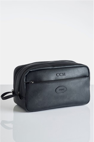Personalised Faux Leather Wash Bag