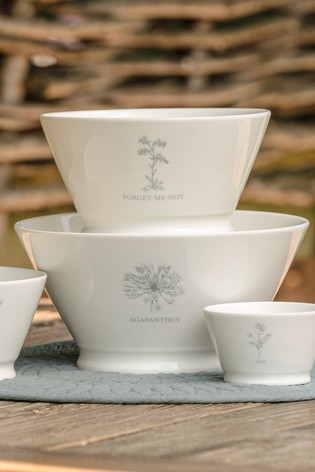 Mary Berry Garden Agapanthus Large Serving Bowl