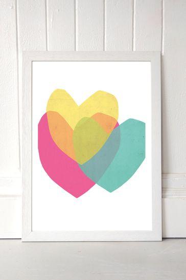 Bright Hearts by Seventy Tree Framed Print