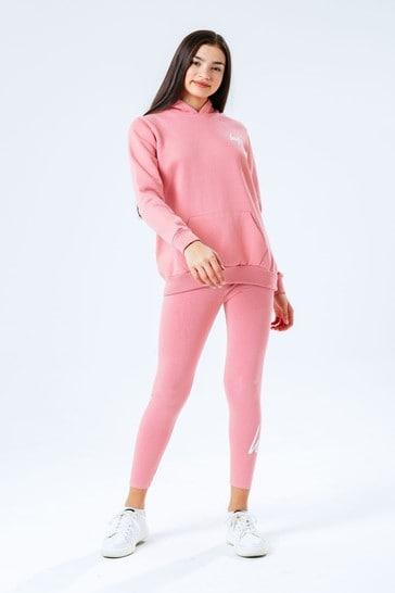 Hype. Pink Kids Hoodie And Leggings Set