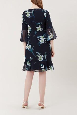 Hobbs Blue Adriana Dress
