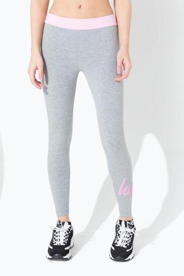 Hype. Glitter Pink Band Leggings