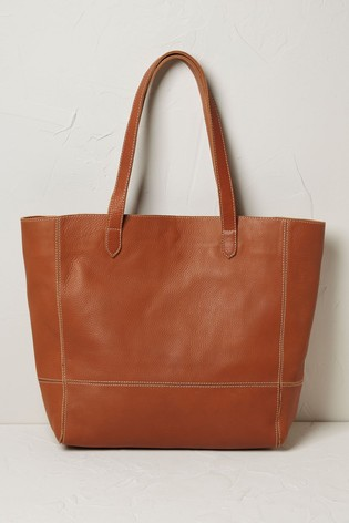FatFace Brown Debby Leather Tote