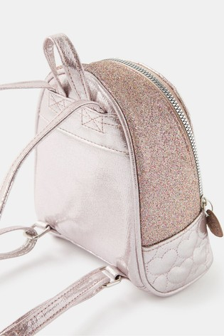 Accessorize Pink Mini Heart Quilted Sparkle Backpack