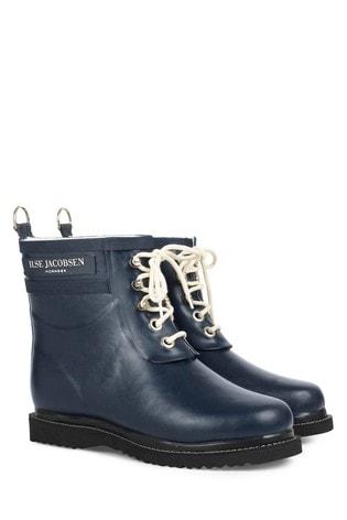 Ilse Jacobsen Navy Rubber Boot