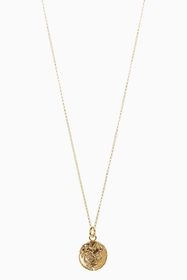 Cabbage White Coin Necklace