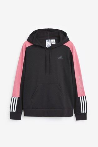 adidas Linear Colourblock Pullover Hoodie