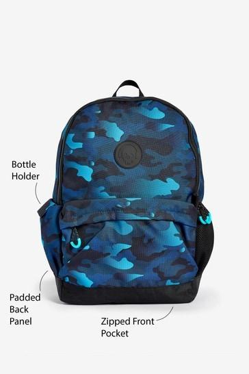 Blue Camouflage Bag