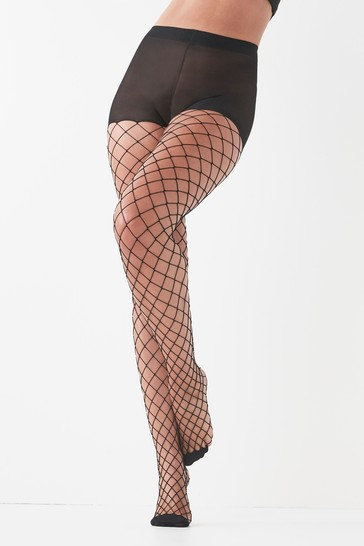 Black Fishnet Tights One Pack