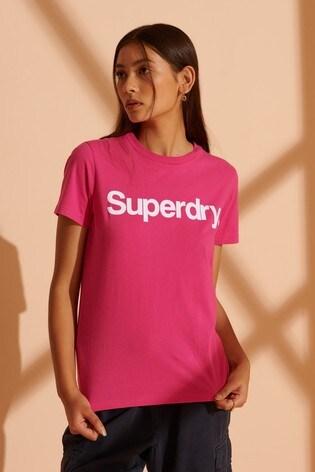 Superdry Core Logo Flock T-Shirt