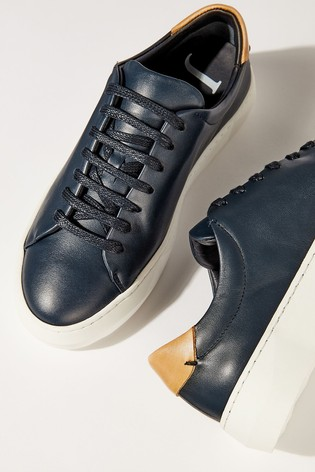 Buy Jigsaw Margot Leather Trainers from