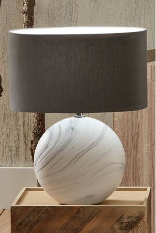 Crestola Marble Effect Ceramic Table Lamp by Pacific