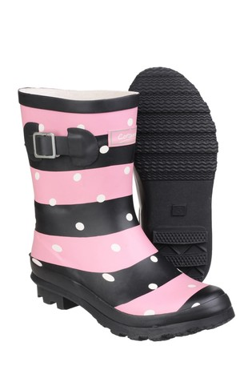 Cotswold Pink Badminton Wellington Boots