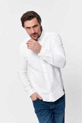 M&Co Men White Oxford Shirt