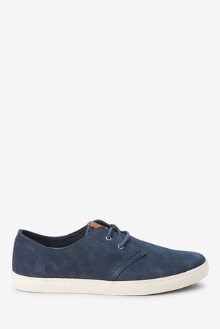 Navy Casual Suede Derby Shoes