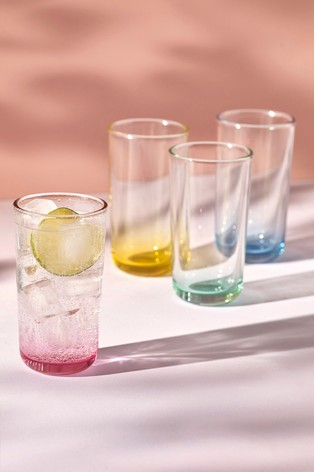 Layla Pastel Set of 4 Tumbler Glasses