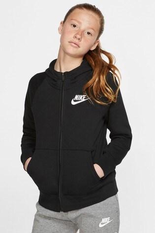 Nike Fleece Zip Through Hoodie