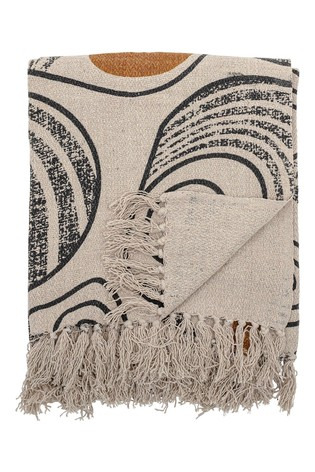 Bloomingville Grey Recycled Cotton Natural Throw