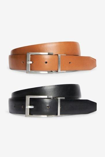Tan/Black Reversible Belt
