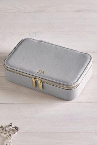 Personalised Grey Jewellery Box