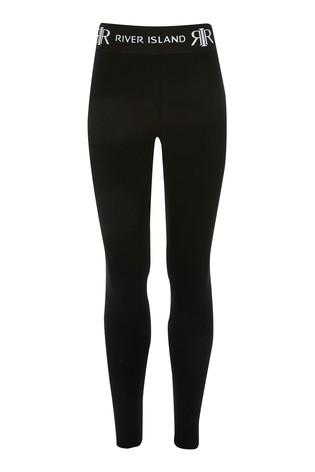River Island Black Waistband Legging