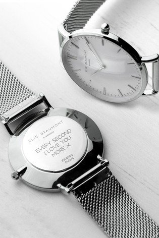 Personalised Women's Metallic Mesh Watch by Treat Republic