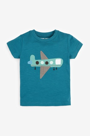 Blue Plane Appliqué T-Shirt (3mths-7yrs)
