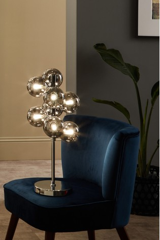 Vecchio Glass Orb And Chrome Table Lamp by Pacific