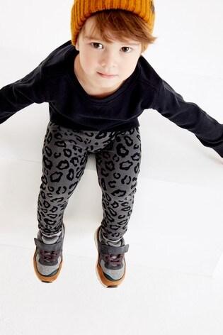 Charcoal Animal Print Leggings (3mths-7yrs)