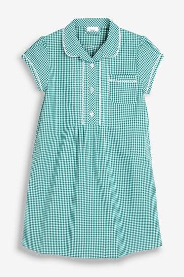 Green Plus Fit Gingham Dress (3-16yrs)