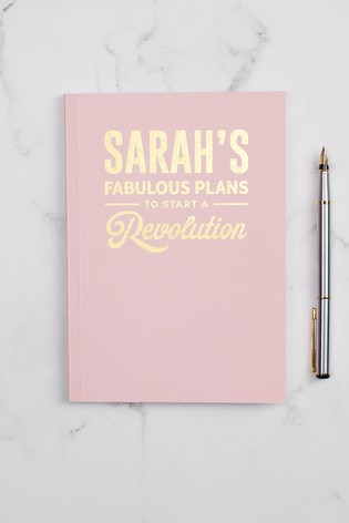 Personalised A5 Fabulous Plans Notebook by Oakdene