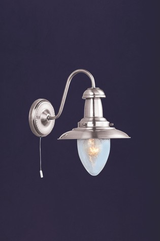Dover Seeded Glass Shade Wall Light by Searchlight