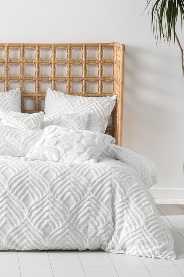 Palm Springs Textured Duvet Cover and Pillowcase Set by Linen House