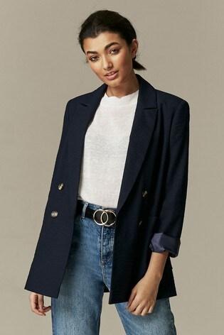 Wallis Blue Patch Pocket Blazer