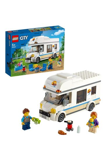 LEGO 60283 City Great Vehicles Holiday Camper Van Toy Car