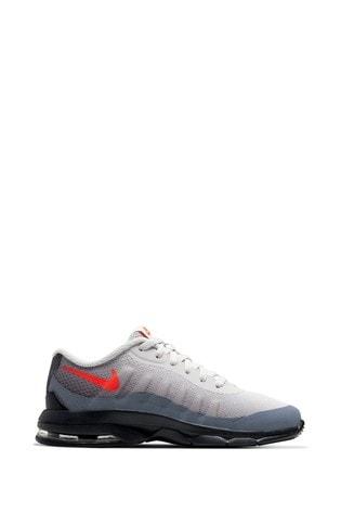 Nike Grey/Red Air Max Invigor Junior Trainers