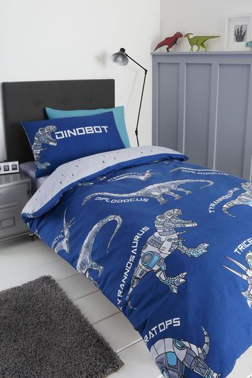 Dinobot Duvet Cover and Pillowcase Set by Catherine Lansfield
