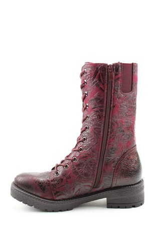 Heavenly Feet Red Ladies Mid-Calf Boots