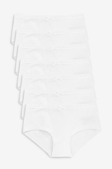 White 7 Pack Hipster Briefs (2-16yrs)
