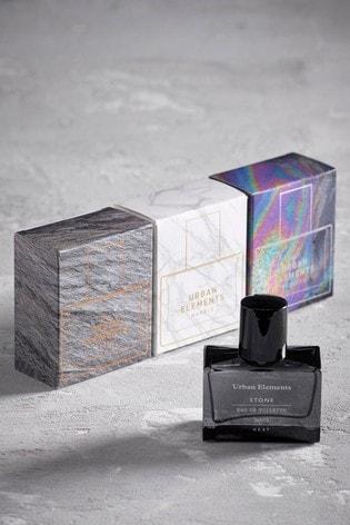 Set of 3 Urban Elements Stone Marble And Fulled 30ml Eau De Toilette