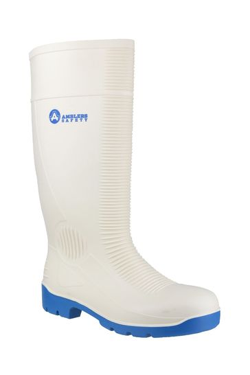 Amblers Safety White FS98 Steel Toe Food Safety Wellington Boots