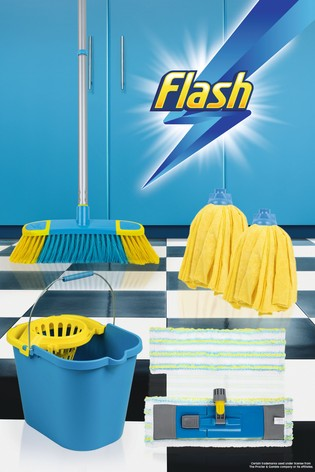 Flash Floor Clean Kit With Flat And Microfibre Mop Mop Bucket by Wham