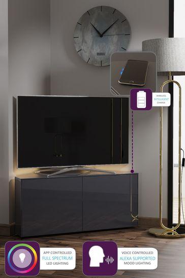 Frank Olsen Smart LED Grey Corner TV Cabinet