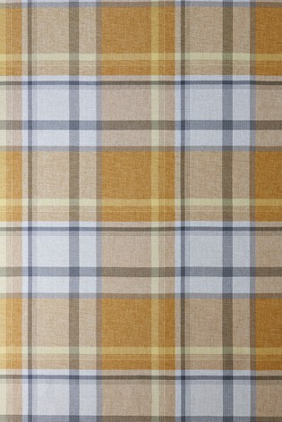 Marlow Woven Check Curtains Fabric Sample