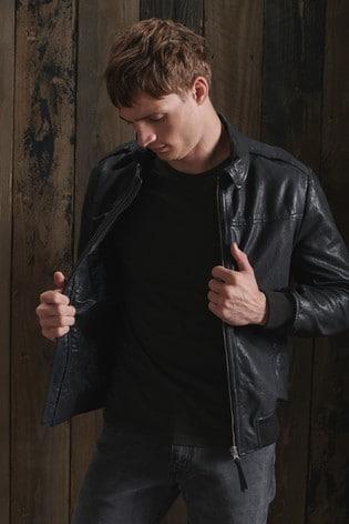 Superdry Aviator Leather Jacket