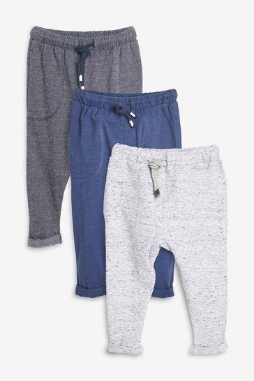 Blue/Grey 3 Pack Lightweight Joggers (3mths-7yrs)