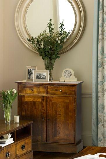 Garrat Dark Chestnut 2 Door 2 Drawer Narrow Sideboard by Laura Ashley