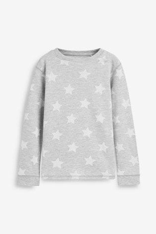 Grey Star Printed Snuggle Thermal Set (1.5-16yrs)