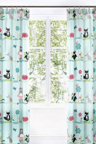 Woodland Fox Pencil Pleat Curtains by Bedlam