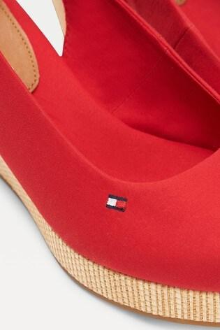 Tommy Hilfiger Red Iconic Elba Sling Back Wedges